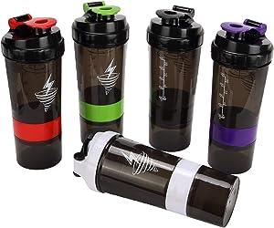 Shaker/Blender Bottle | Great for Mixing Protein Shakes or other Kitchen Tasks| Smoothie bottle | 1 Workout bottle per order - colours selected randomly.
