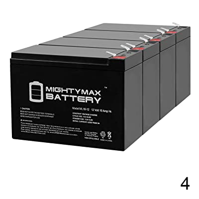 ML10-12 - 12V 10AH New Battery for EZIP Scooter 4.0, 400, 450, 500-4 Pack: Electronics