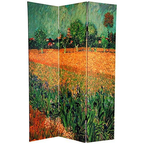 Oriental Furniture 6 ft. Tall Double Sided Works of Van Gogh Canvas Room Divider - Cafe Terrace/View of Arles by ORIENTAL FURNITURE (Image #2)