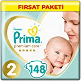 Prima Bebek Bezi Premium Care 2 Beden Mini Fırsat Paketi 148 Adet