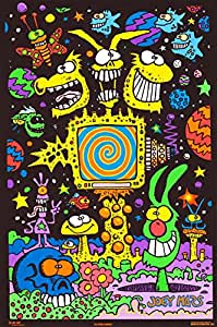 Electric Garden Blacklight Poster 21 x 32in