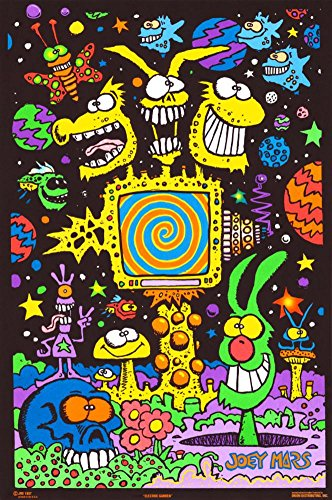 Electric Garden Blacklight Poster 21 x 32in