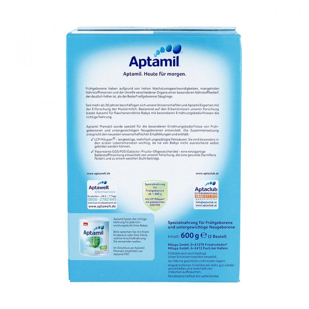 Aptamil Prem atil milupan LCP con polvo 600 G polvo: Amazon.es: Salud y cuidado personal