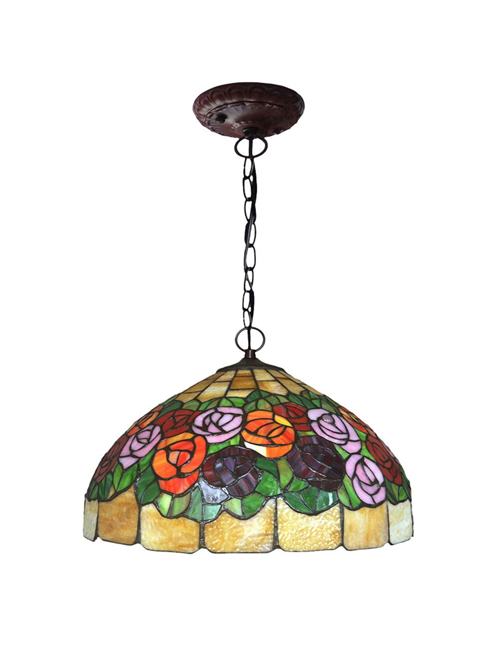 Amazon Com Zyear Vintage Pendant Lighting Rose Stained