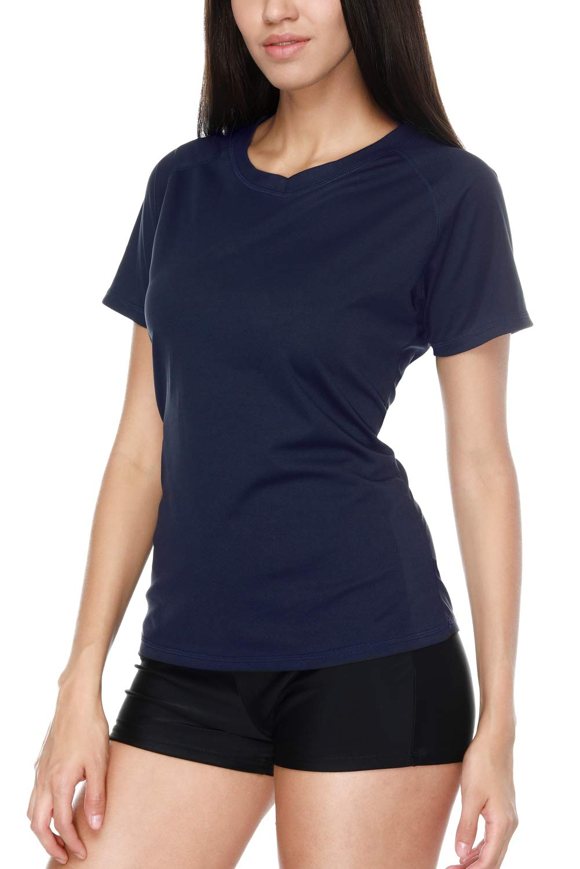 Vegatos Women Short Sleeve Swim Shirt UV Protection Workout Shirt Athletic Top by Vegatos (Image #7)