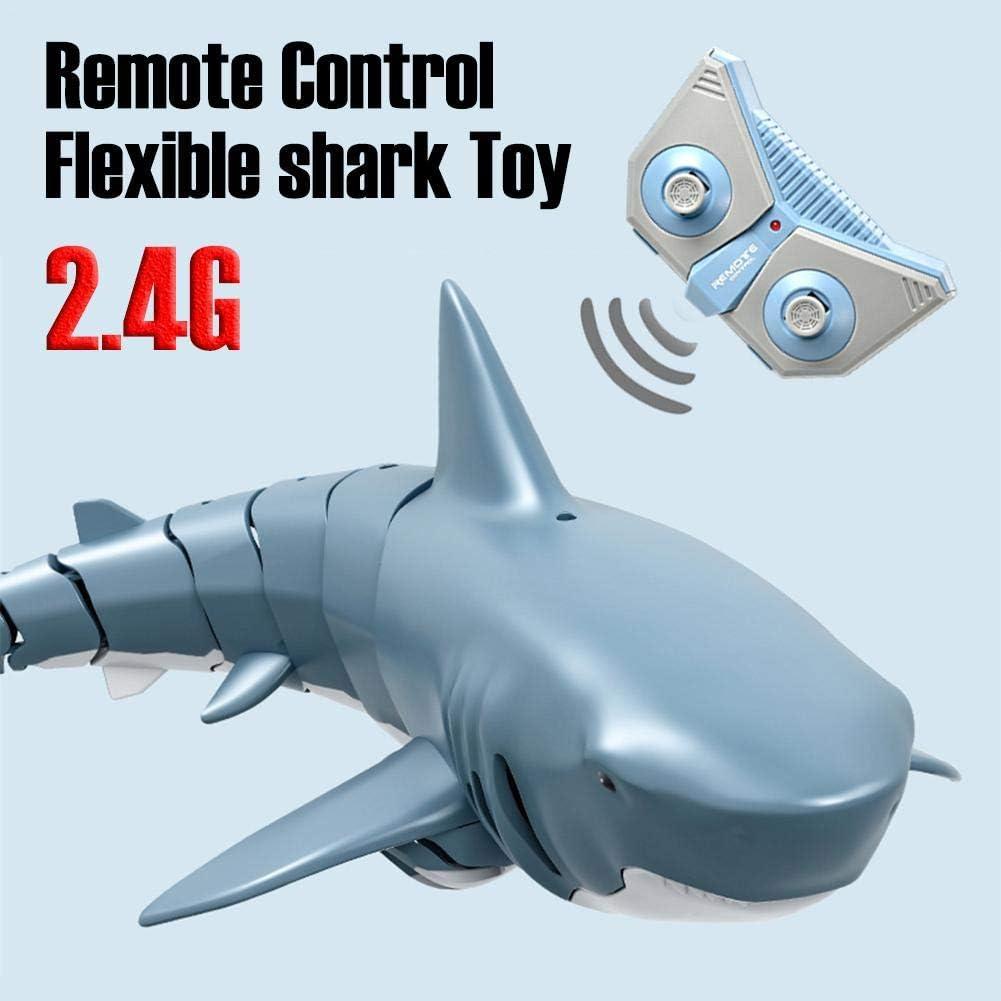40Meter Kontrollentfernung F/ür Schwimmbad Badezimmerspielzeug Evenlyao Ferngesteuertes Hai-Spielzeug 4-Kanal 2,4GHz Ferngesteuerter Haifisch