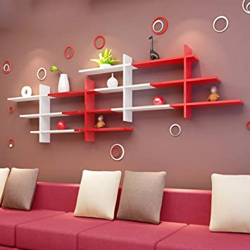 Juli Wandregale Weiße und Rote Wand Rahmen Gestelle ...