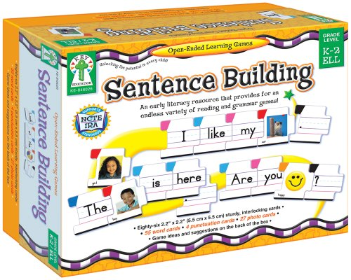Carson Dellosa - Sentence Building Literacy Resource with 86 Cards for Language Arts For K, 1st, & 2ND Grade & Ell