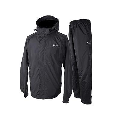 Acme Projects Rain Suit (Jacket + Pants), 100% Waterproof, Breathable, 10000mm/3000gm, YKK Zipper at Men's Clothing store