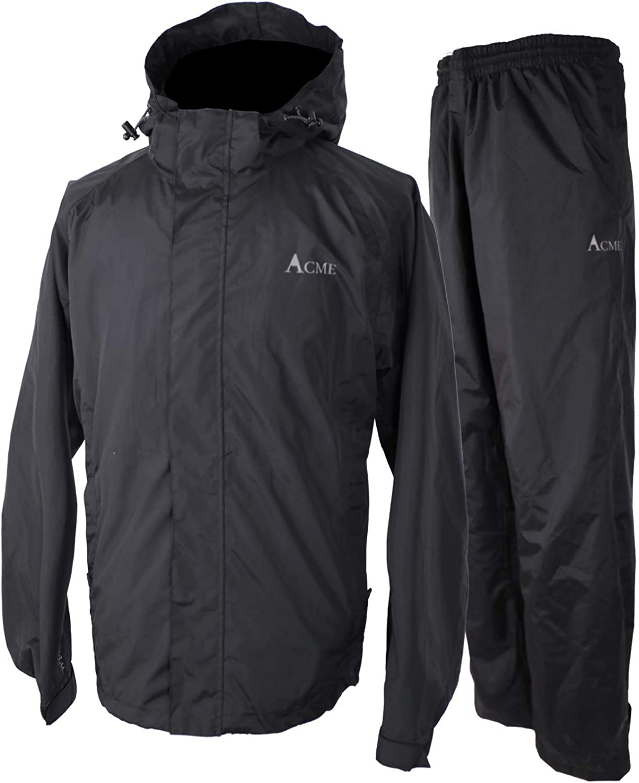 Acme Projects Rain Suit (Jacket + Pants), 100% Waterproof, Breathable, 10000mm/3000gm, YKK Zipper