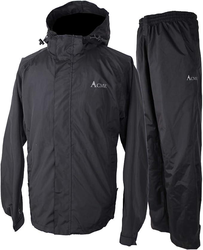 Detachable Hood Breathable 10000mm//3000gm Acme Projects Mens Rain Jacket YKK Zipper 100/% Waterproof Taped Seam