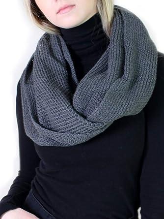f116c34e8e1 Amazon.com: Viverano Pure Organic Cotton Knit Infinity Scarf, Soft ...