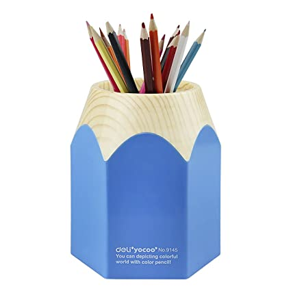 eaafab9bd56 Liying ® New Creative Pencil Tip Design Pen Holder Pencil Cup (Blue ...