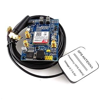 SIM808 Módulo gsm GPRS Placa de Desarrollo GPS IPX SMA con Antena GPS para Raspberry Pi STM32 51MCU Soporte Voz: Amazon.es: Electrónica