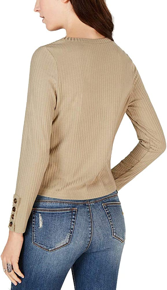 American Rag Juniors Ribbed Button-Detail Top