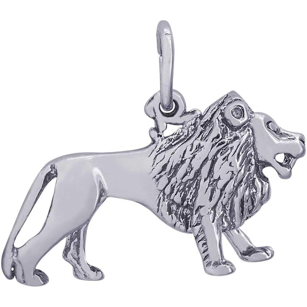 Rembrandt Charms Lion Charm, Sterling Silver