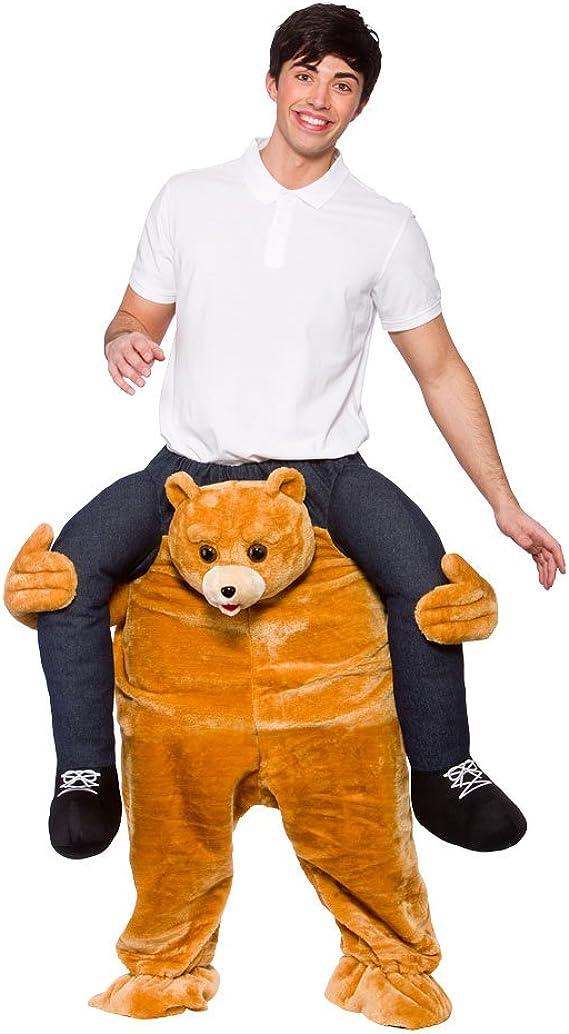 Disfraz de oso llevando a hombros. Disfraz para adulto: Amazon.es ...
