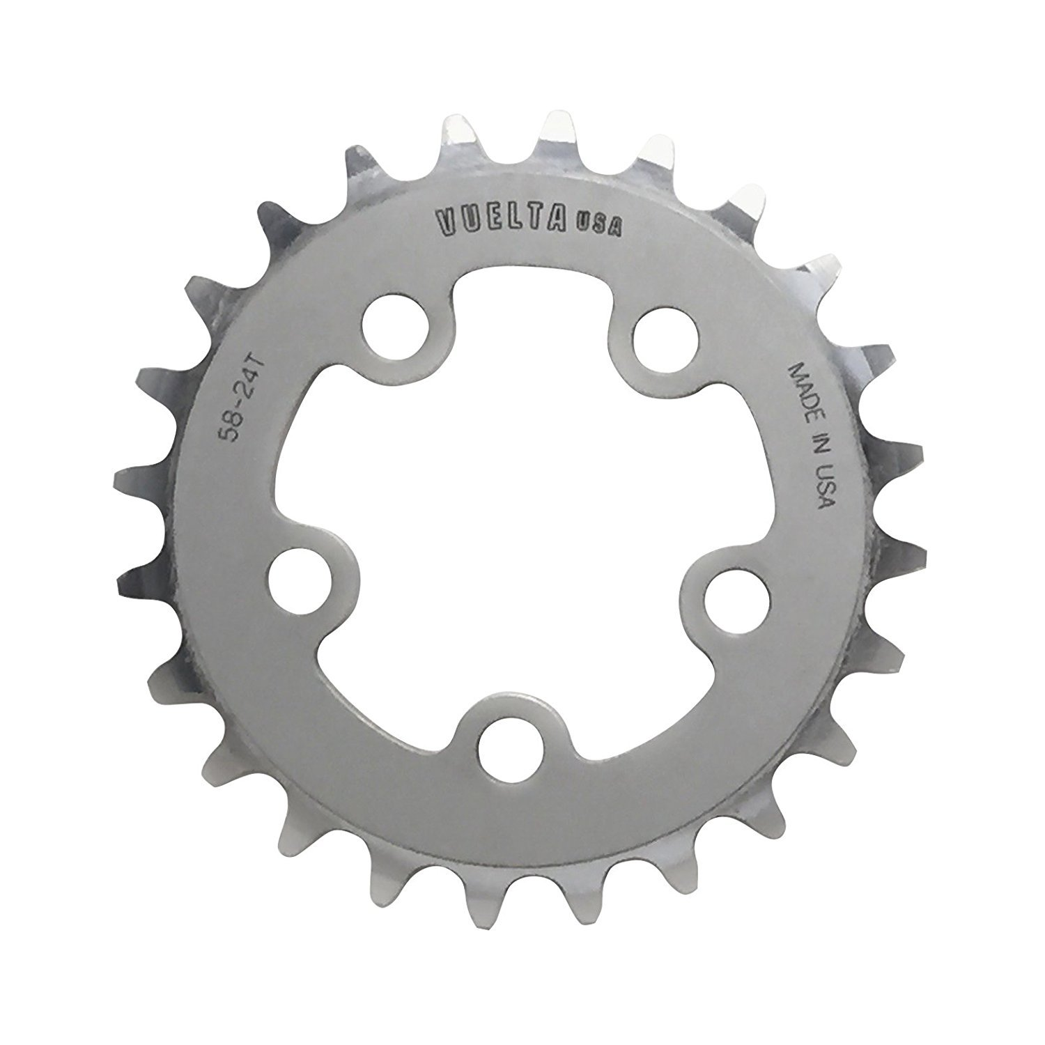High Quality SE Flat 130mm/BCD Chainring, Silver B07C2NPFVB