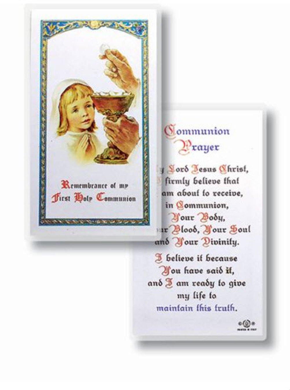 Amazon.com: Tarjeta de oración italiana de primera comunión ...