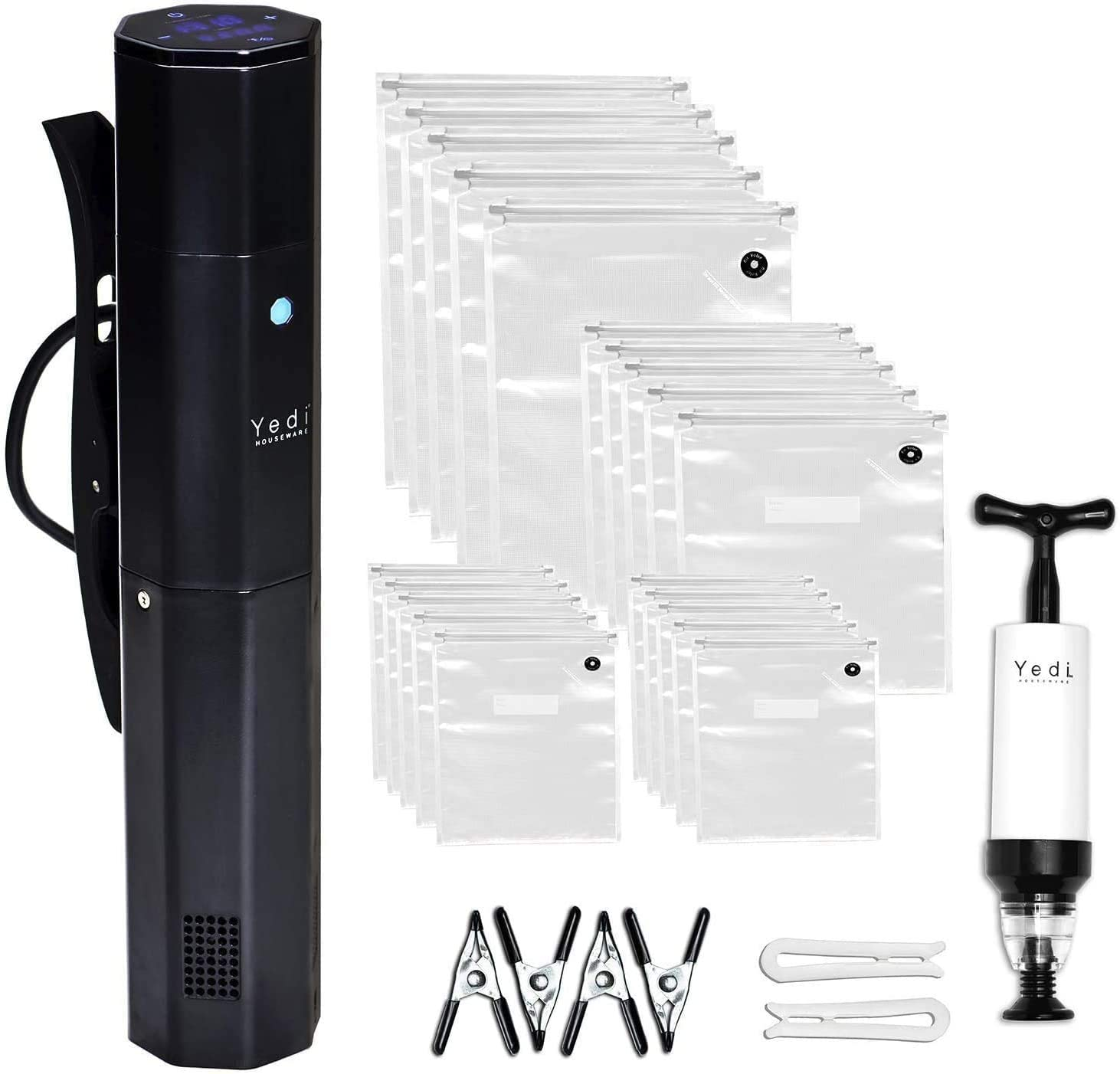 Yedi Infinity Sous Vide, Powered by Octcision Technology, Deluxe Accessory Kit, Recipes, 1000 Watts