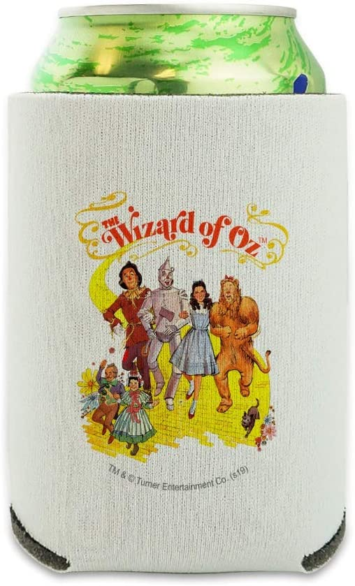 The Wizard of Oz Yellow Brick Road Can Cooler - Drink Sleeve Hugger Collapsible Insulator - Beverage Insulated Holder