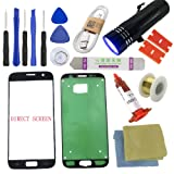 For Samsung Galaxy S7 Screen Replacement [Direct Screen], Sunmall Front Outer lens Glass Screen Replacement Repair Kit LCD Glass Repair Kit For Samsung Galaxy S7 G930 G930F G930A G930T. (Black) (Color: Black)