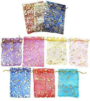 IUwnHceE Favor De La Boda Bolsas De Regalo De Organza Multicolor De 9 X 7 X 0,11 Cm