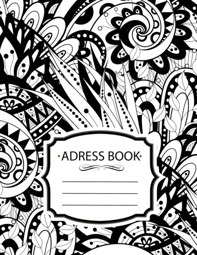 Address Book : Floral Shadow Tapestry For Contacts, Addresses, Phone Numbers: Big Alphabetical Organizer Journal Notebook.Large Print, Font, 8.5 by 11,Over 300 Spaces pdf epub