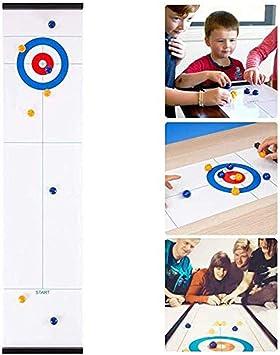 Juego de mesa Curling,adultos y niños, juegos de mesa portátiles del equipo,de mesa formación familiar a juegos de mesa para niños y adultos de interior,Viajes, divertido puzzle juego educativo regalo: Amazon.es: Juguetes