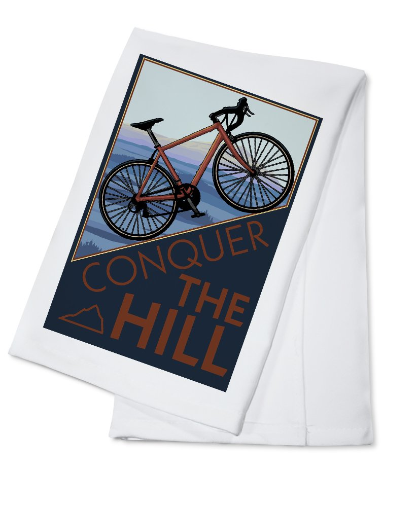 Conquer the Hill – Mountain Bike Cotton Towel LANT-31360-TL B0184BYT4E Cotton TowelCotton Towel