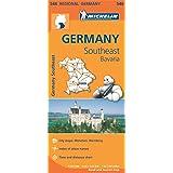 Germany Southeast, Bavaria Regional Map 546 (Michelin Regional Maps)