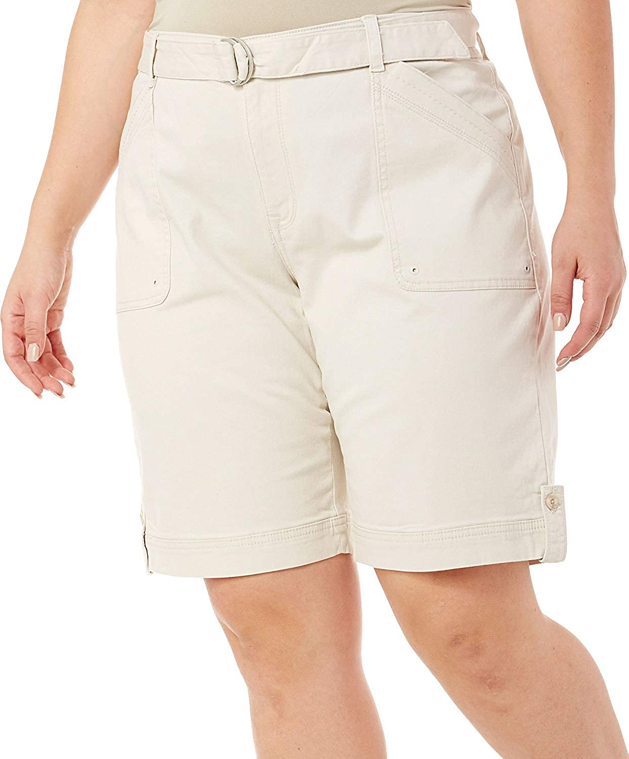 Gloria Vanderbilt Women's Sierra Stretch Twill Short with Self Belt