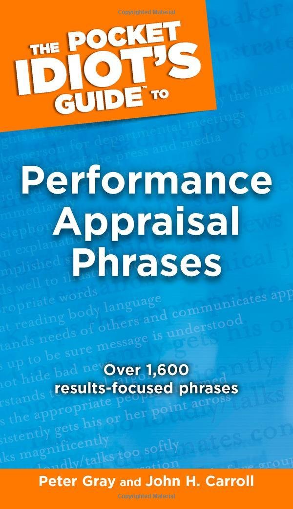 The Pocket Idiot\'s Guide to Performance Appraisal Phrases: Peter ...