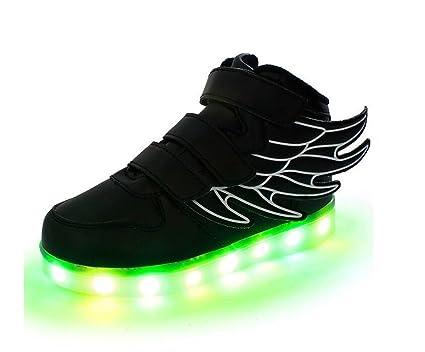 57f1deafac Joney Ali Scarpe da ginnastica, a LED, con luce di 7 colori, Unisex ...