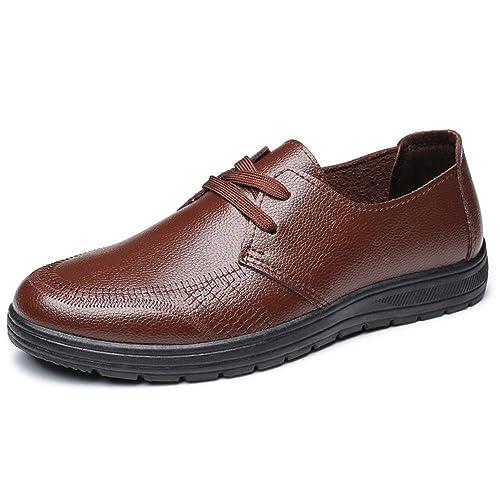 HILOTU Mocasines de Moda para Hombre Oxford sin Cordones cómodos y cómodos Costura de Punta Redonda Zapatos Formales: Amazon.es: Zapatos y complementos