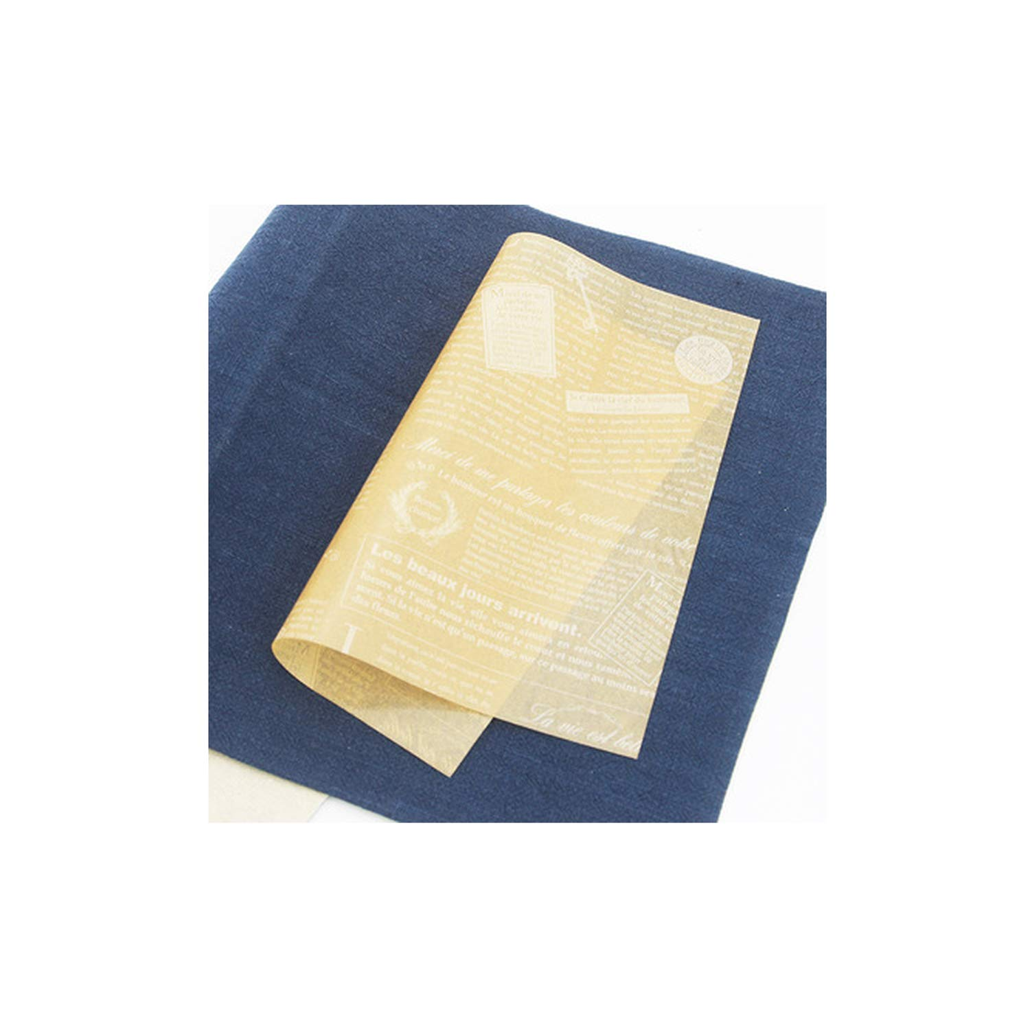 100Pcs/Lot Food Grade Grease Paper Food Wrappers Wrapping Paper Bread Sandwich Burger Fries Oilpaper Baking Tools,H by homesDecor