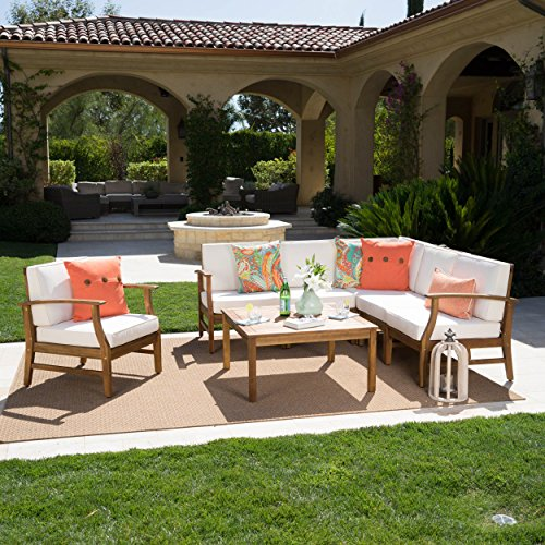 Christopher Knight Home 302231″ Perla CKH Outdoor Sofa Set/Sectional