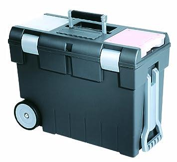 CURVER 159621 tuercas caja de herramientas con ruedas/baúl de obras gris/antracita/transparente: Amazon.es: Hogar