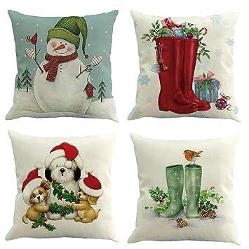 Weihnachten Kissenbezug 45x45cm Decoration Durable für Sofa Schlafzimmer Auto