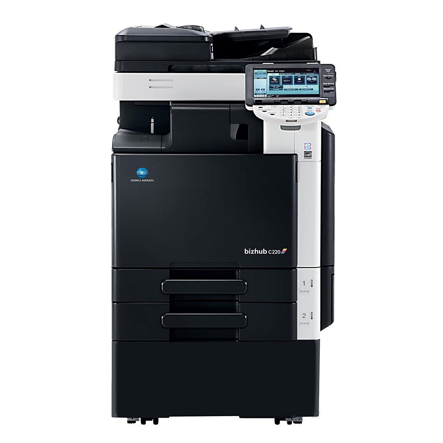 Amazon.com : Refurbished Konica Minolta BizHub C220 Tabloid-size Color  Multifunction Printer - 22ppm, Copy, Print, Color Scan, 2 Trays and Stand :  ...