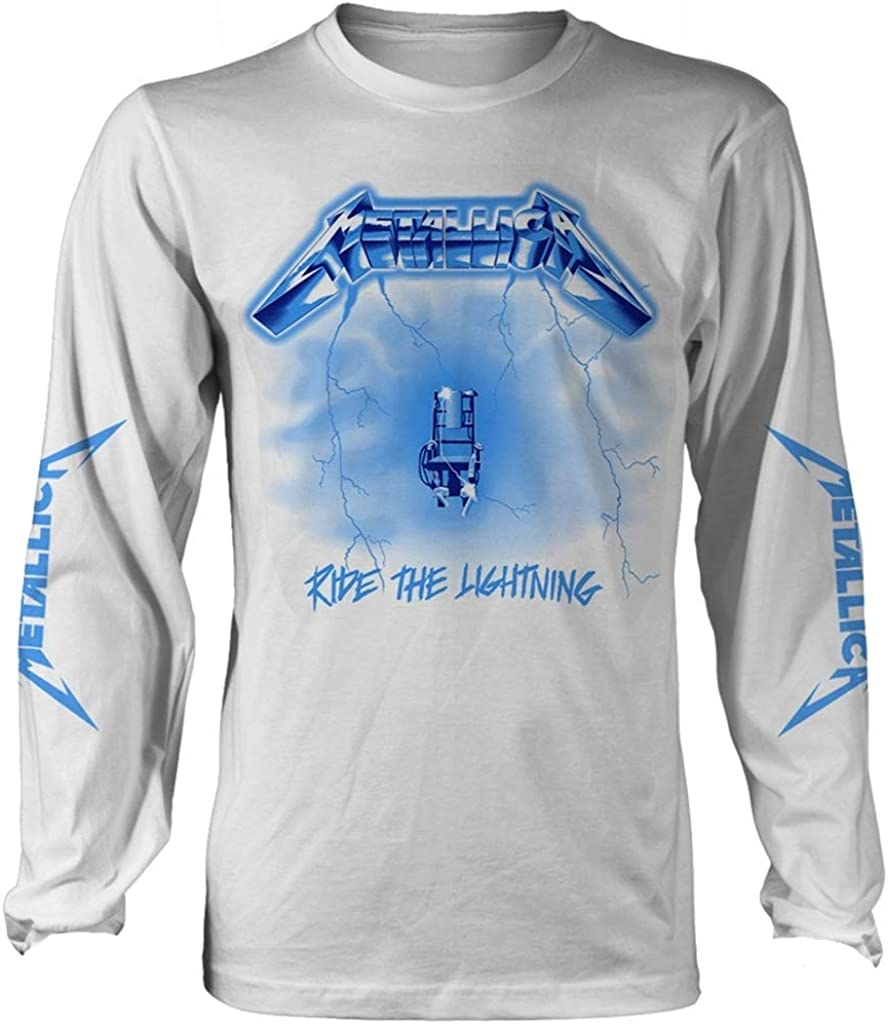 Metallica Ride The Lightning (Blanco) Camisa De Manga Larga: Amazon.es: Ropa y accesorios