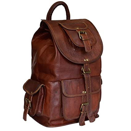 79399aa5dbd3 Classic Vintage Leather Backpack for Men