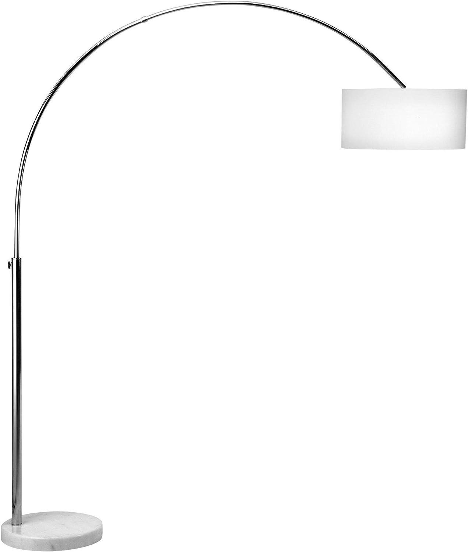 Bogen Lampe Design Stand Leuchte Wohnzimmer Stehlampen Chrom Lese