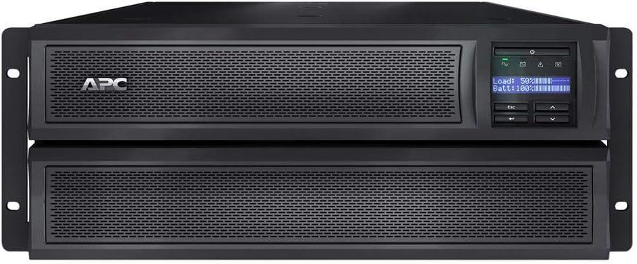 APC Network UPS, 3000VA Smart-UPS Sine Wave, Short Depth UPS with Extended Run Option, SMX3000LVNC, Network Management Card, Tower/4U Rack Convertible, Line-Interactive, 120V black