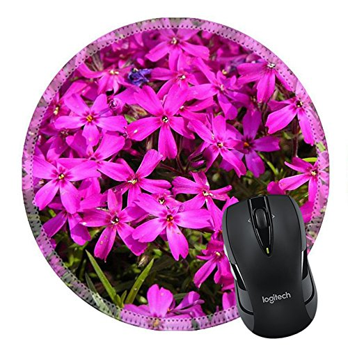 MSD Mousepad Round Mouse Pad/Mat 24249129 Beautiful small pink flower with bright color -