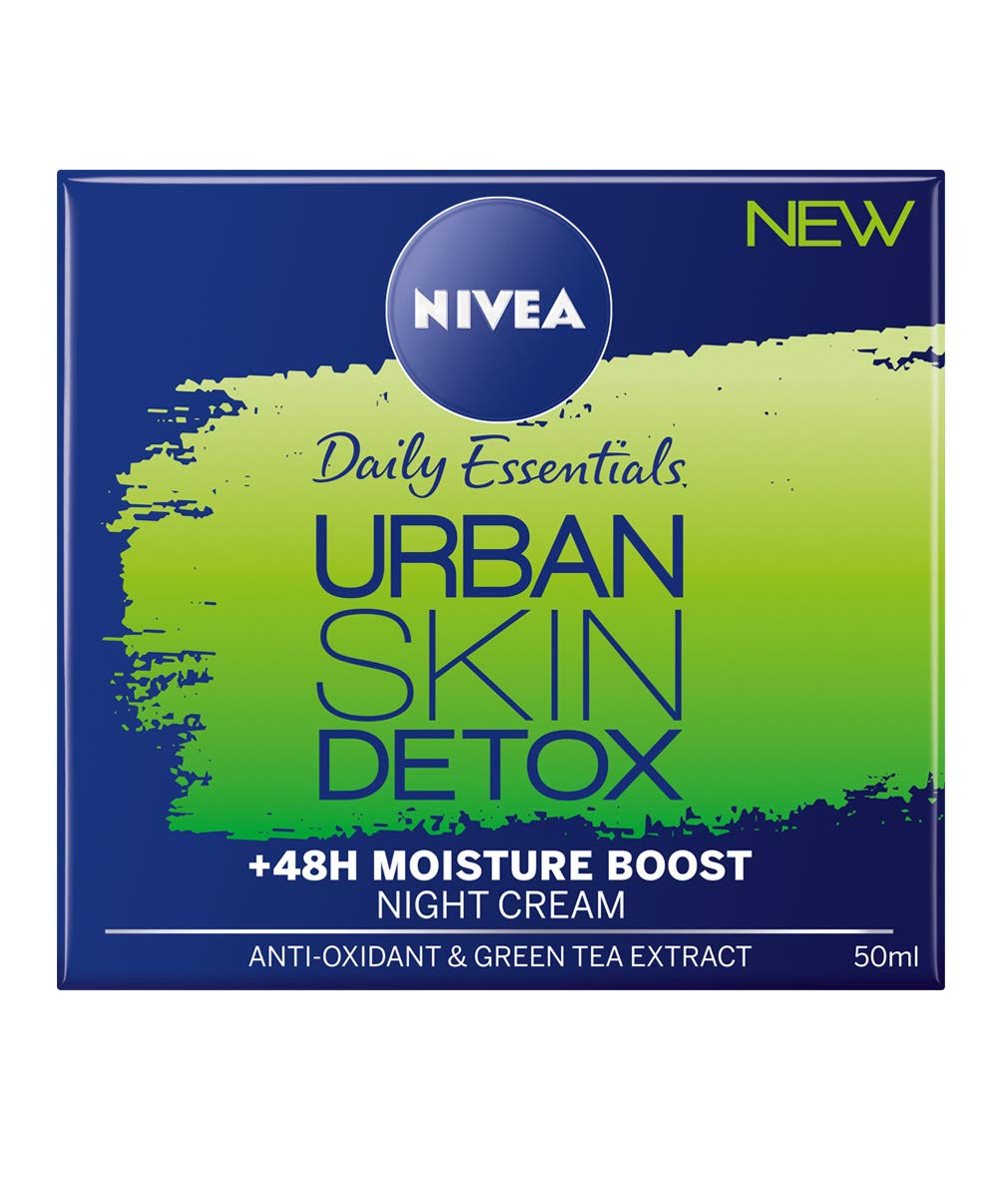 NIVEA Urban Detox Night Gel Cream, 50ml, Pack of 3 Beiersdorf 4005900447586