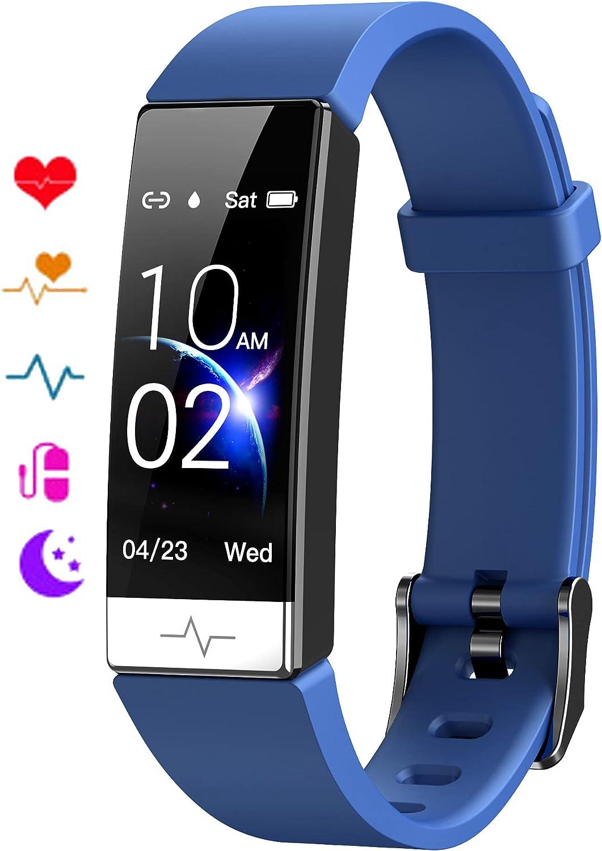 EBAKIN Fitness Tracker with Blood Oxygen SpO2 Blood Pressure Heart Rate Sleep Monitor IP68 Waterproof Activity Tracker HRV Health Watch for Men Women Teens
