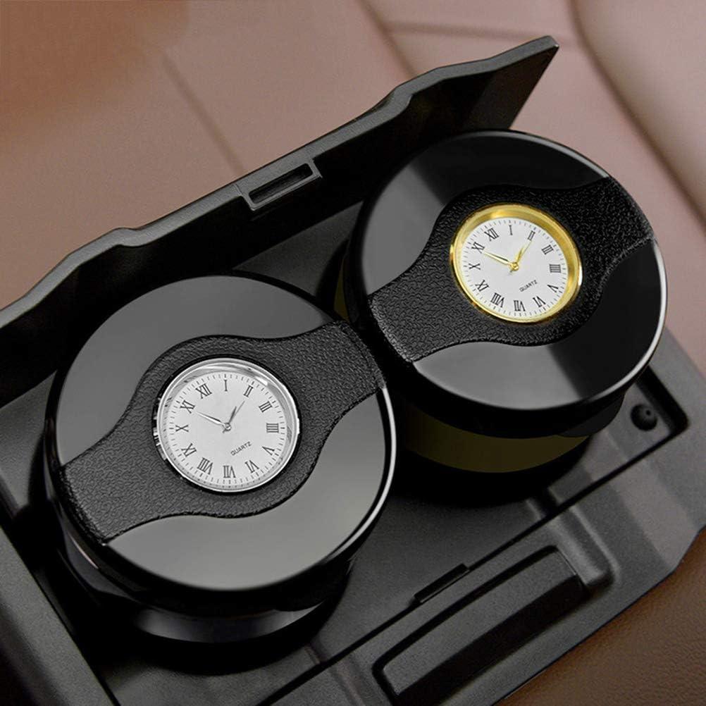 Garneck Car Ashtray with LED Light Detachable Stainless Steel Car Ashtray Cup Holder Golden