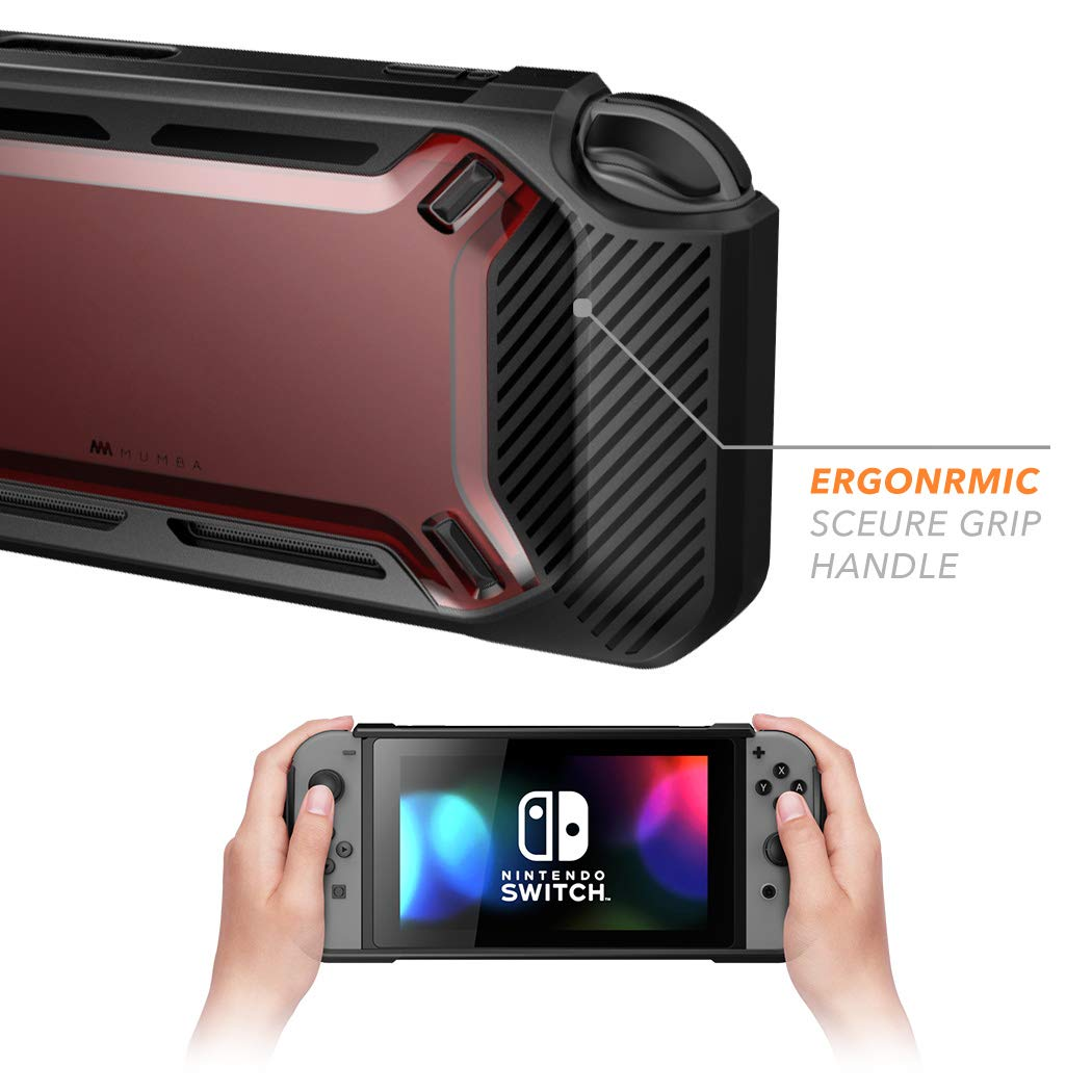 Mumba case for Nintendo Switch, [Heavy Duty] Slim Rubberized [Snap on] Hard Case Cover for Nintendo Switch 2017 release (Red)