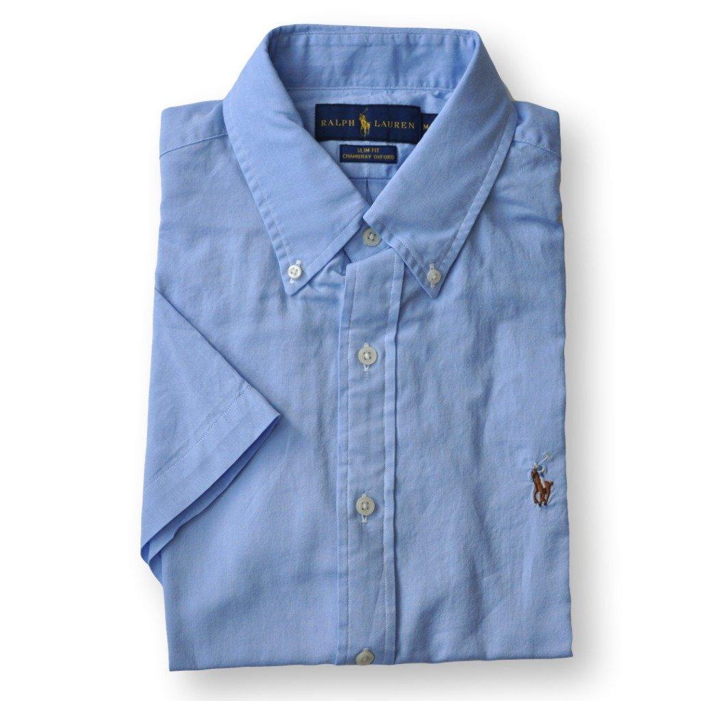 Ralph Lauren Men Slim Fit Chambray Oxford Button Down Shirt Xxl